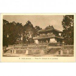 carte postale ancienne VIET-NAM. Hué Annam. Thien Tri Temple de la Lumière