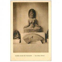 carte postale ancienne VIET-NAM. Musée Cham de Tourane Statue Chame