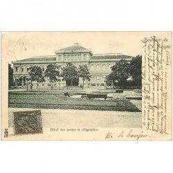carte postale ancienne VIET-NAM. Saïgon. Hôtel des Postes et Télégraphes 1902
