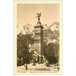 carte postale ancienne VIET-NAM. Saïgon. Monument aux Morts Grande Guerre