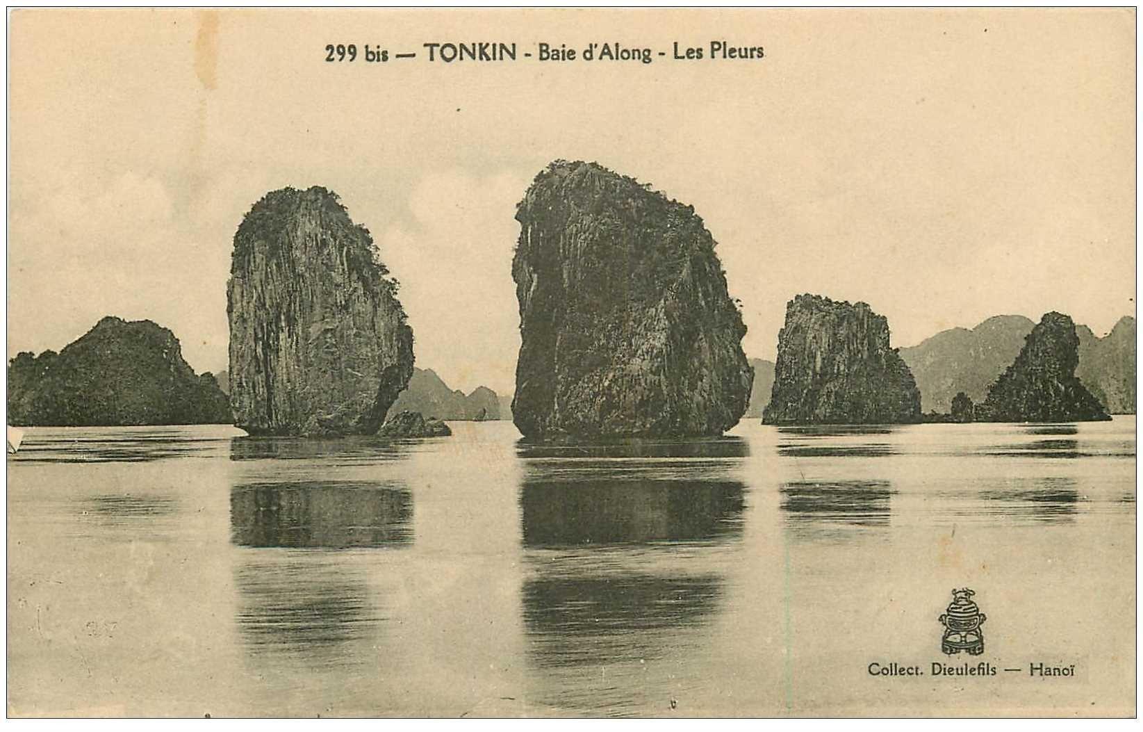 carte postale ancienne Viêt-Nam. TONKIN. Les Pleurs Baie Along