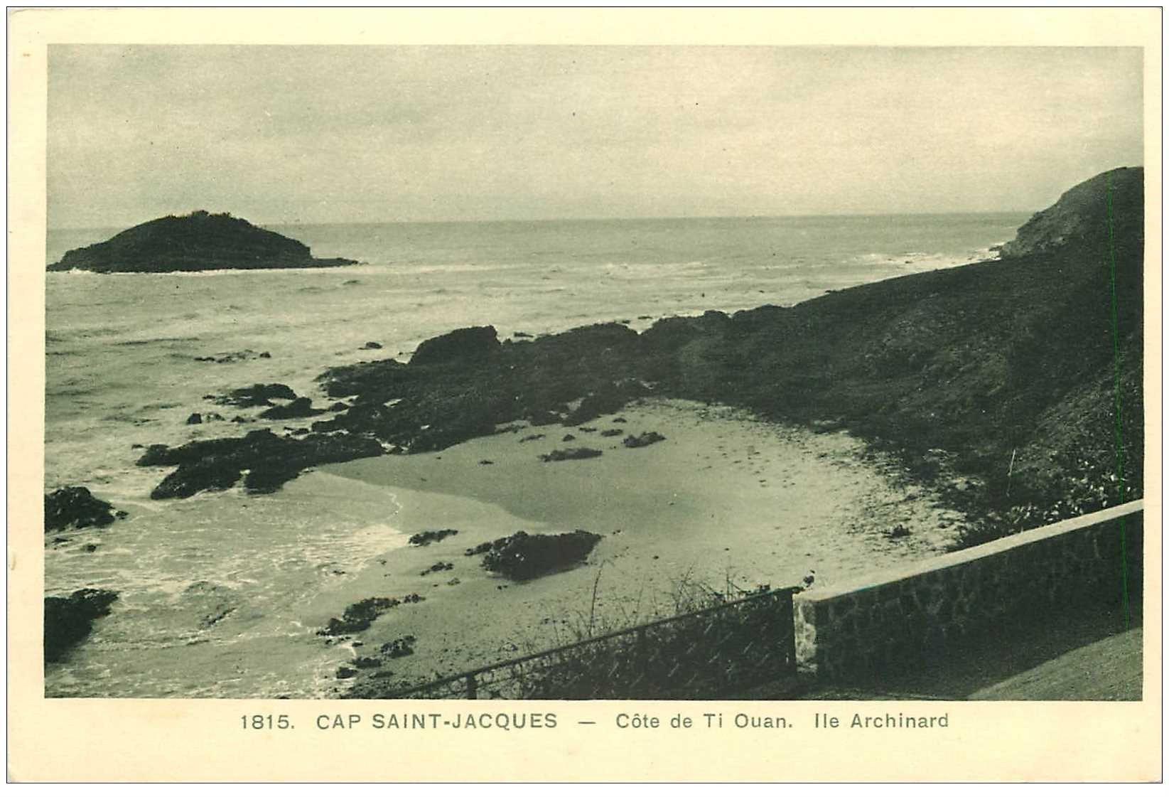 carte postale ancienne Viêt-Nam.. CAP SAINT JACQUES. Côte de Ti Ouan Ile Archinard