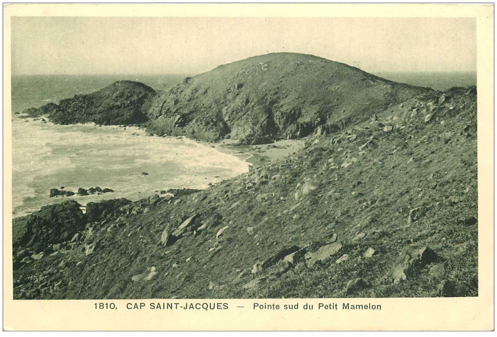 carte postale ancienne Viêt-Nam.. CAP SAINT JACQUES. Pointe Petit Mamelon