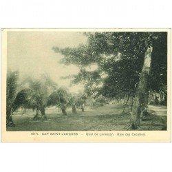 carte postale ancienne Viêt-Nam.. CAP SAINT JACQUES. Quai de Lanessan Baie des Cocotiers