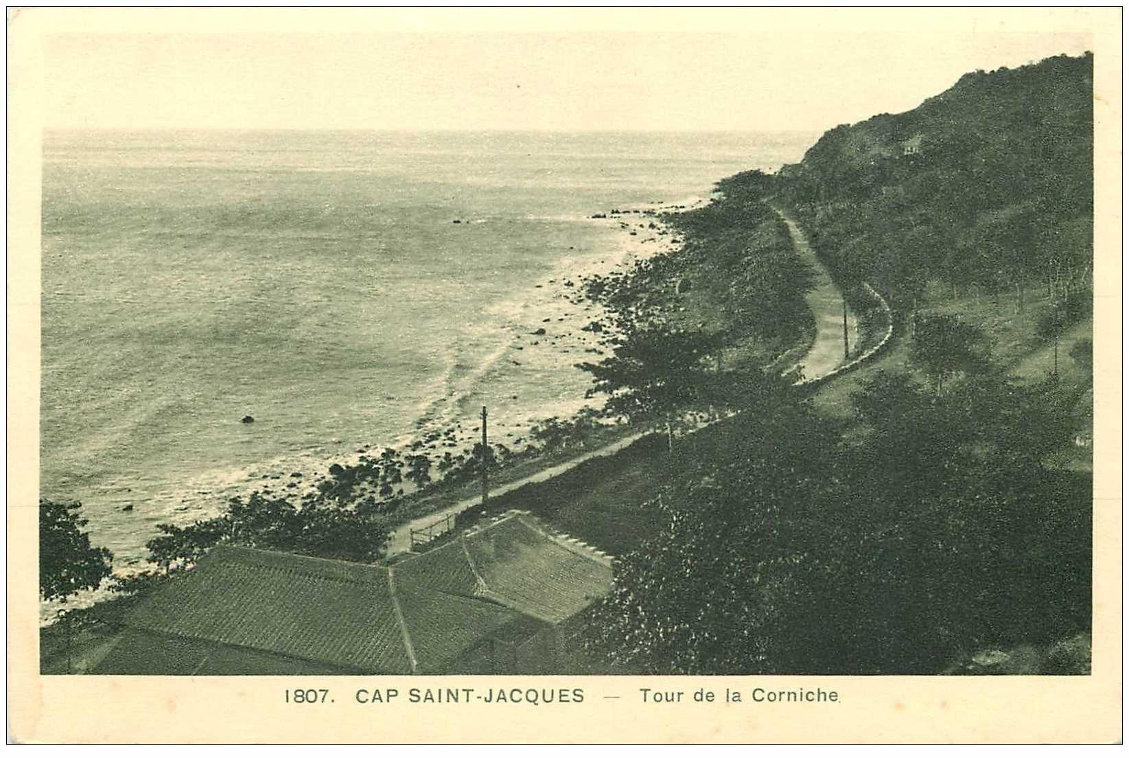carte postale ancienne Viêt-Nam.. CAP SAINT JACQUES. Tour de la Corniche