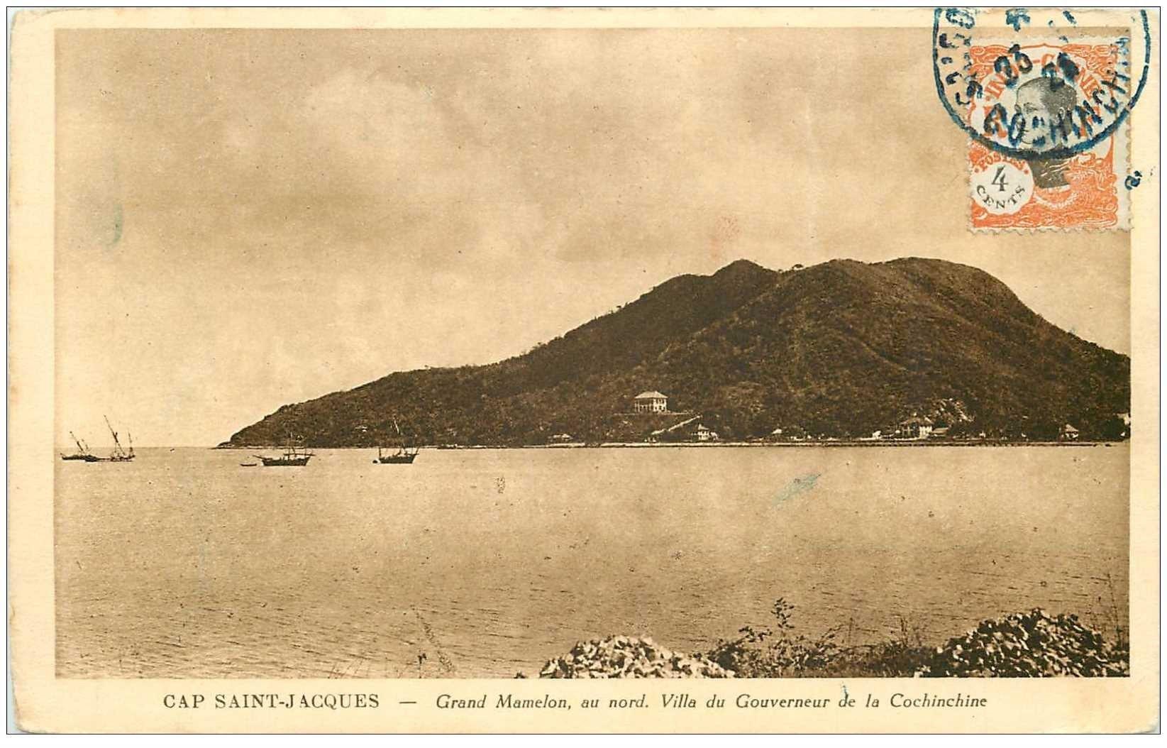 carte postale ancienne Viêt-Nam.. CAP SAINT JACQUES. Villa Gouverneur Cochinchine Grand Mamelon 1926