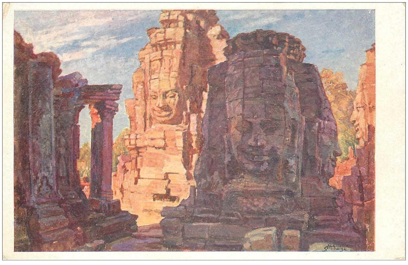 carte postale ancienne Asie. CAMBODGE. Angkor Thom
