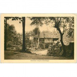 carte postale ancienne CAMBODGE. Habitation Indigène
