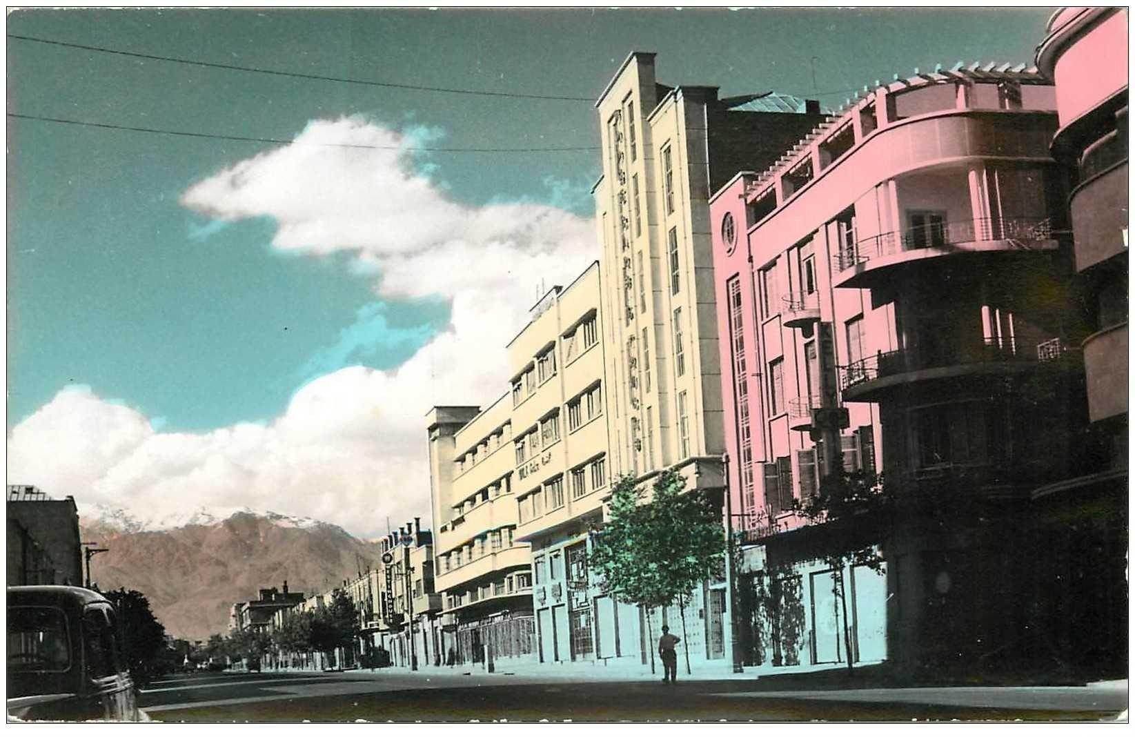 carte postale ancienne IRAN. Saadi Avenue Tehran