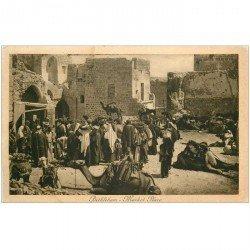 carte postale ancienne ASIE. Palestine Israël. Bethlehem Market Place 1921