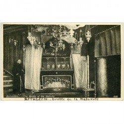 carte postale ancienne ISRAEL PALESTINE. Bethlehem. Grotte de la Nativité