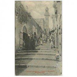 carte postale ancienne ISRAEL PALESTINE. Jérusalem. A Street 1913