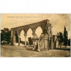 carte postale ancienne ISRAEL PALESTINE. Jérusalem. Chaire de Kadi Burkan Eddine et Temple Salomon