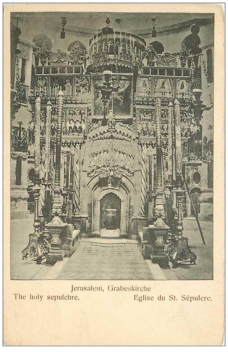 carte postale ancienne ISRAEL PALESTINE. Jérusalem. Eglise du Saint Sépulcre
