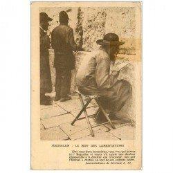 carte postale ancienne ISRAEL PALESTINE. Jérusalem. Mur des Lamentations 1932