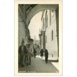carte postale ancienne ISRAEL PALESTINE. Jérusalem. Via Dolorosa