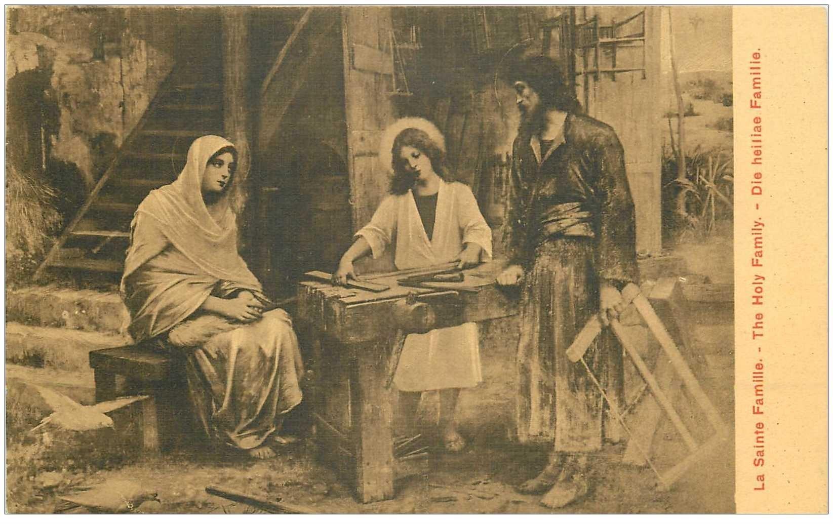 carte postale ancienne ISRAEL PALESTINE. La Sainte Famille
