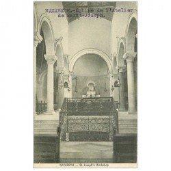 carte postale ancienne ISRAEL PALESTINE. Nazareth. Eglise Atelier Saint Joseph