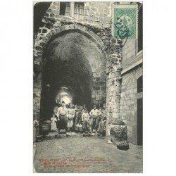 carte postale ancienne ISRAEL PALESTINE. Porte Judiciaire de la VII Station