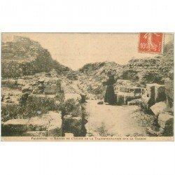 carte postale ancienne ISRAEL PALESTINE. Ruines Eglise de la Transfiguration sur le Thabor 1910 animation