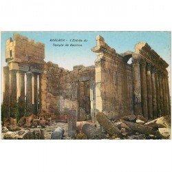 carte postale ancienne Liban Syrie. BAALBECK. Entrée Temple Bacchus