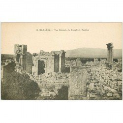 carte postale ancienne Liban Syrie. BAALBECK. Temple Bacchus 12