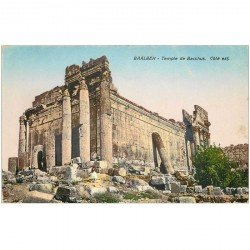 carte postale ancienne Liban Syrie. BAALBECK. Temple Bacchus côté Est