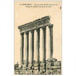 carte postale ancienne Liban Syrie. BAALBECK. Temple de Jupiter