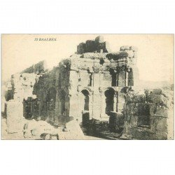 carte postale ancienne Liban Syrie. BAALBECK. Temple ruines