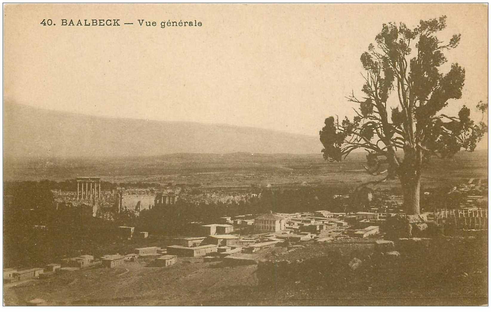 carte postale ancienne Liban Syrie. BAALBECK. Vue générale