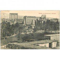 carte postale ancienne Liban Syrie. BAALBECK. Vue générale de l'Acropole