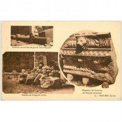 carte postale ancienne Liban Syrie. BAALBEK. Colonne Boulet Corniche Temple Jupiter