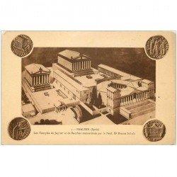 carte postale ancienne Liban Syrie. BAALBEK. Les Temples Jupiter et Bacchus