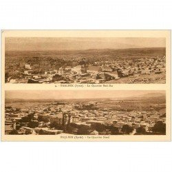 carte postale ancienne Liban Syrie. BAALBEK. Quartier sud est et nord