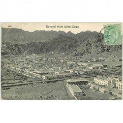 carte postale ancienne SYRIE. General view Aden Camp 1908 (pli coins gauche)
