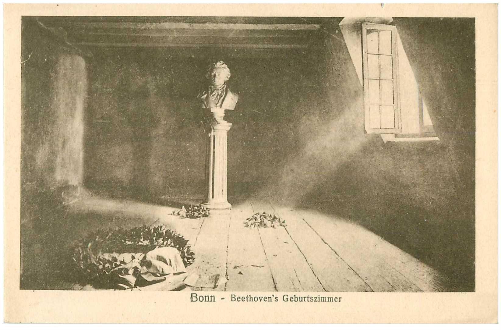 carte postale ancienne ALLEMAGNE. Bonn. Beethoven's Geburtszimmer