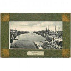 carte postale ancienne ALLEMAGNE. Bremen Freihafen 1907 Brême