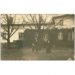 carte postale ancienne Allemagne. BUCHEN. Rare photo carte postale 1913 une famille dans une maison de Campagne
