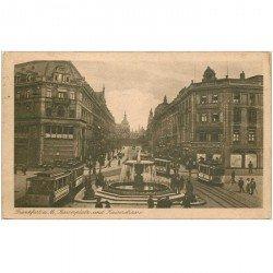 carte postale ancienne ALLEMAGNE. Frankfurt. Kaiserplatz und Kaiserstrasse 1922. Timbre manquant...