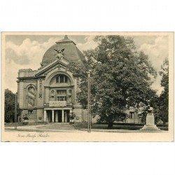 carte postale ancienne ALLEMAGNE. Gera Reufs Theater. Bords dentelés à la ficelle...