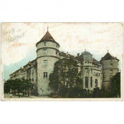carte postale ancienne Allemagne. Gruss auf STUTTGART 1904