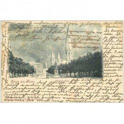 carte postale ancienne ALLEMAGNE. Gruss aus Bonn. Münsterplatz 1900