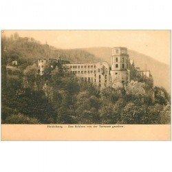 carte postale ancienne ALLEMAGNE. Heidelberg. Das Schloss von der Terrasse gesehen vers 1900...