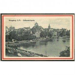carte postale ancienne ALLEMAGNE. Königsberg Schlossteichpartie 1915