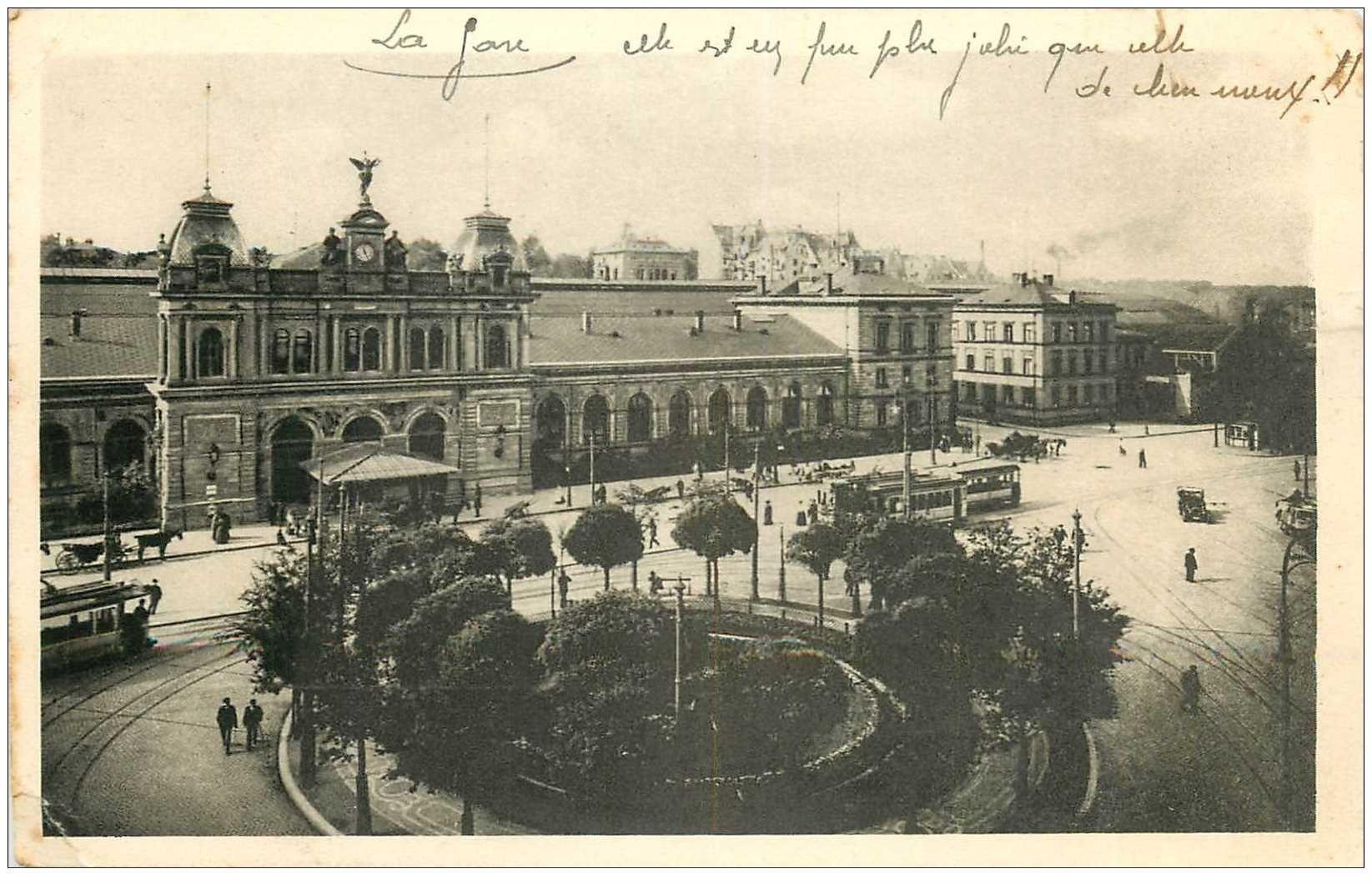 carte postale ancienne ALLEMAGNE. Mainz. Hauptbahnhof 1920