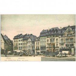 carte postale ancienne ALLEMAGNE. Mayence Mainz. Marktplaiz vers 1900...