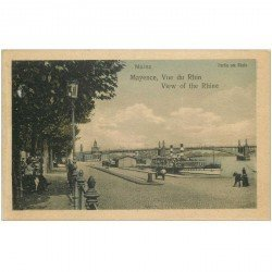 carte postale ancienne ALLEMAGNE. Mayence Mainz. View of the Rhine Rhein Rhin