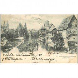 carte postale ancienne ALLEMAGNE. Nürnberg Insel Schütt 1902