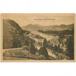 carte postale ancienne Allemagne. Rolandseck mit Drachenfels 1919