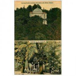 carte postale ancienne ALLEMAGNE. Sommerfrische Lousberg Belvedère Schenk. Trinkhalle an der Pyramide 1907